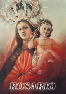 Pintura Virgen del Rosario de Bartolomé Castro