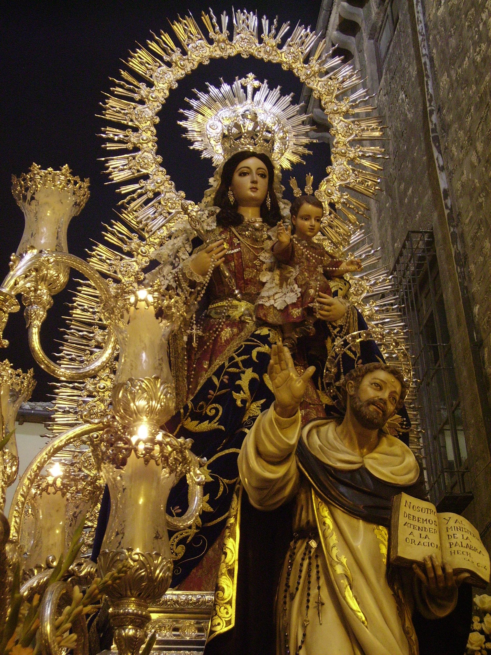 Virgen del Rosario en procesión de 2008